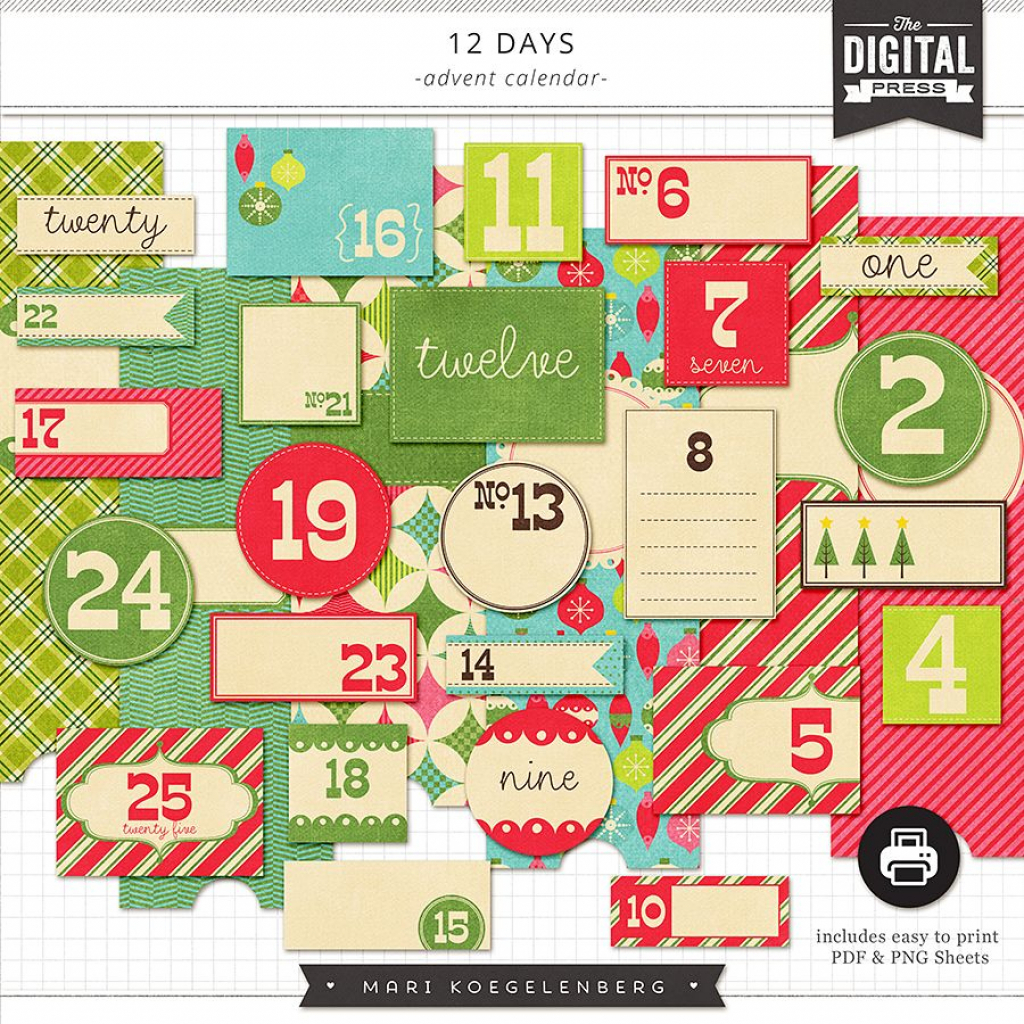 12 Days Of Christmas Advent Calender Template – Calendar With Regard To San Diego County Court Holiday Schedule