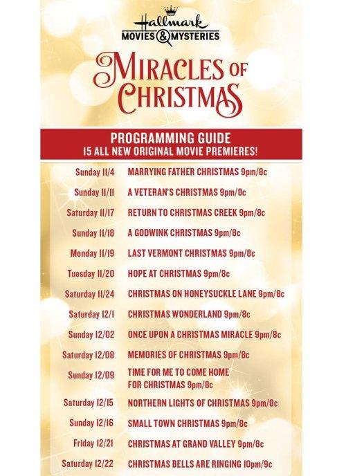 2018 Hallmark/Lifetime Christmas Movie Schedule For Printable Tv Premiere Calendar