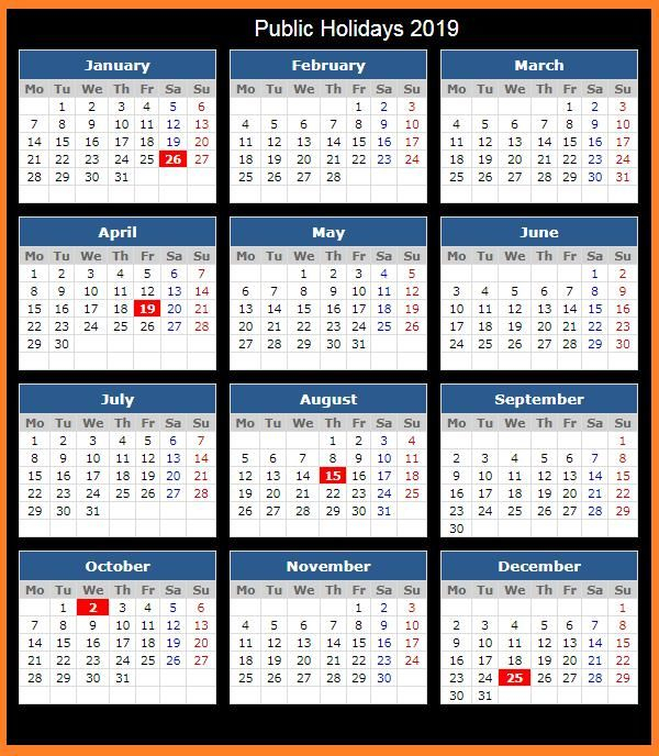 2019 Calendar Holidays Printable #Calendar2019 # With Example Year Round School Schedule
