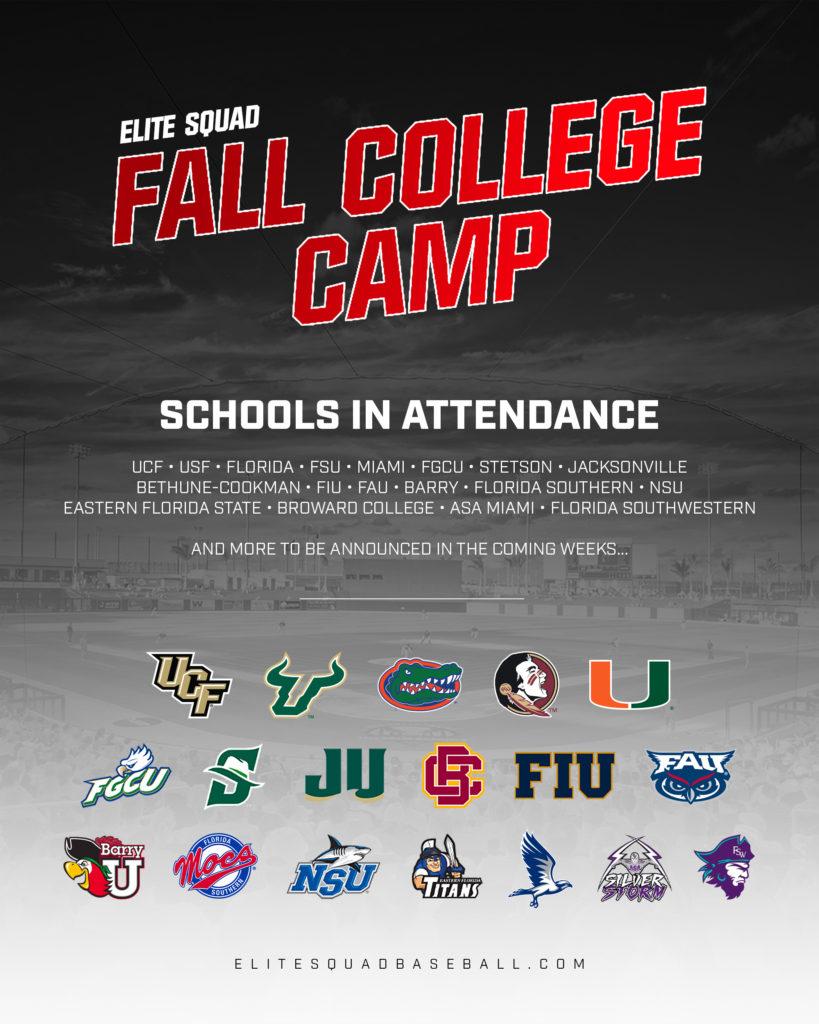 2019 Fall College Camp – Elite Squad Baseball Inside Palm Beach State College Fall Schedule