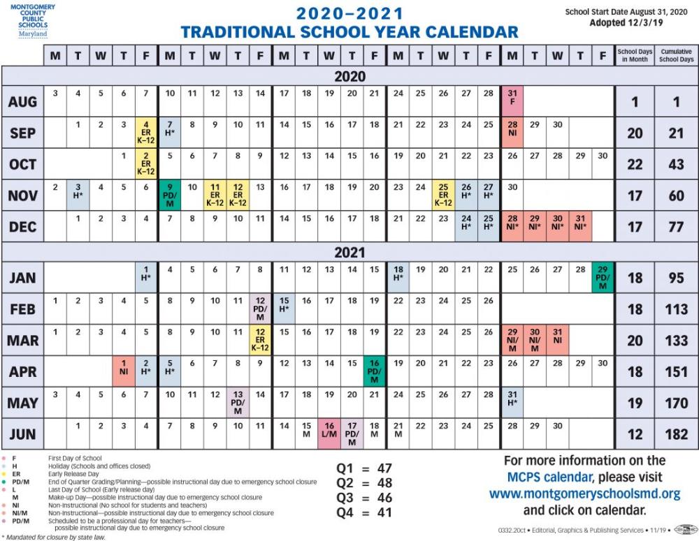 2021 Calendar Proposed 2020 Montgomery County Public In Las Cruces Public School Calendar 2021 20