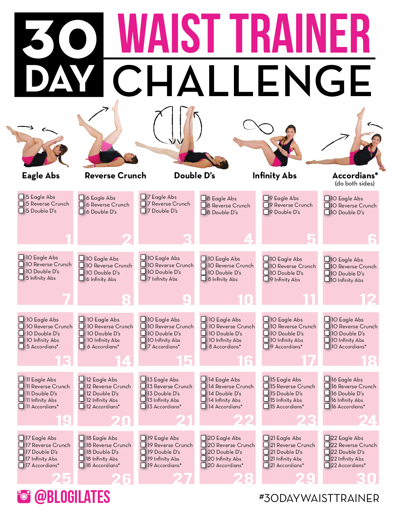 30 Day Flat Abs Challenge! Pertaining To 30 Day Challenge For A Flat Stomach Calender