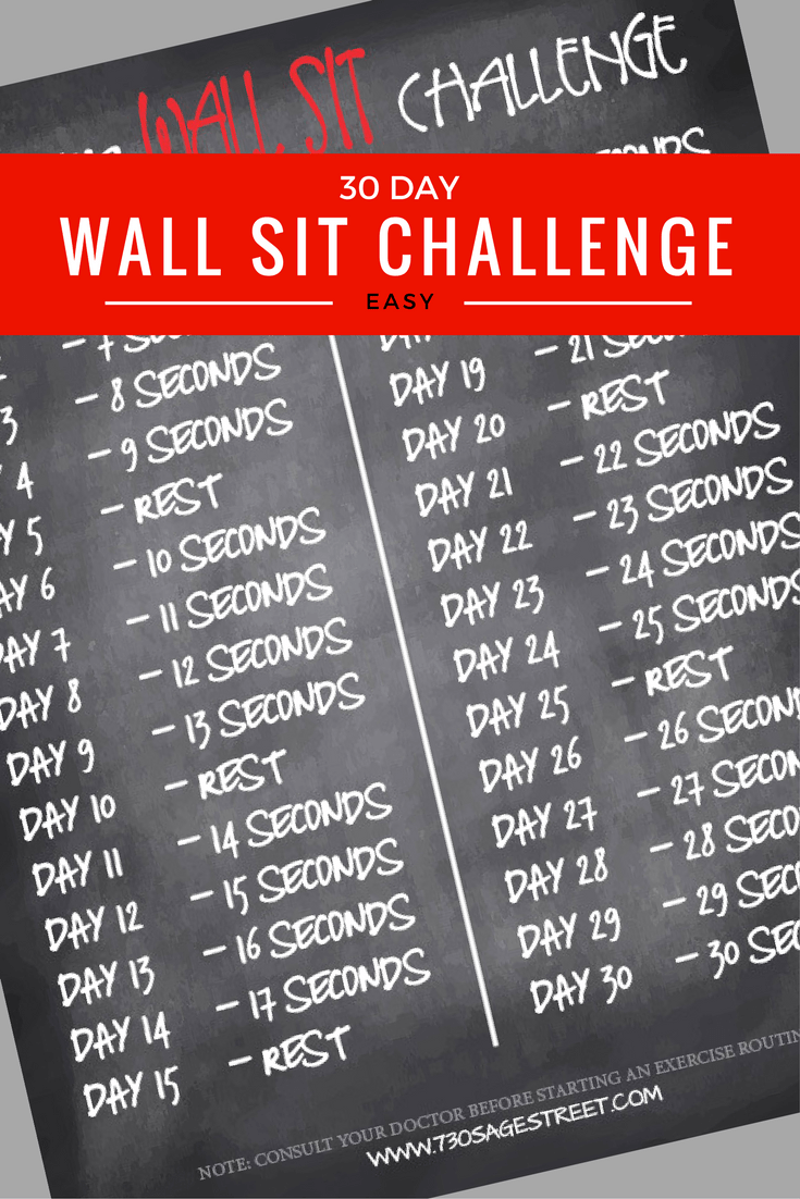 30 Day Wall Sit Challenge For Beginners – 730 Sage Street In 30 Day Sit Up Challenge Printable