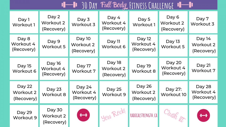 30 Days Fitness Calendar | Printable Calendar 2020 2021 Pertaining To 30 Day Fitness Calendar Printable