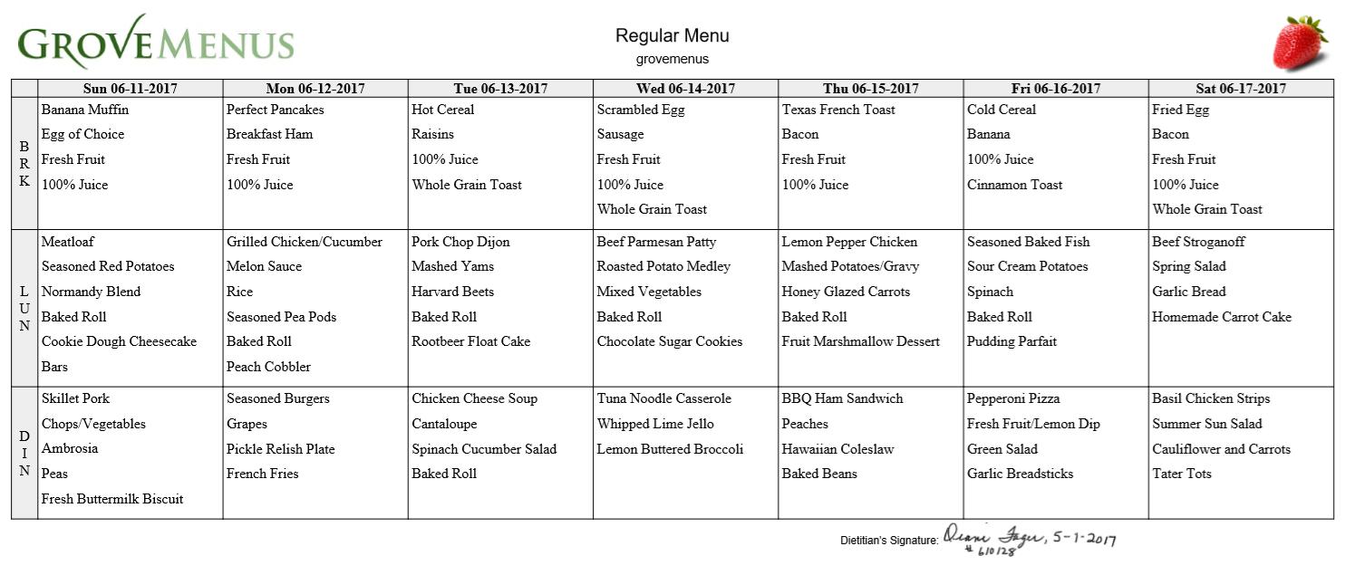 4 Week Menu Cycle Template – Shouldirefinancemyhome Inside Assisted Living Calendar Template