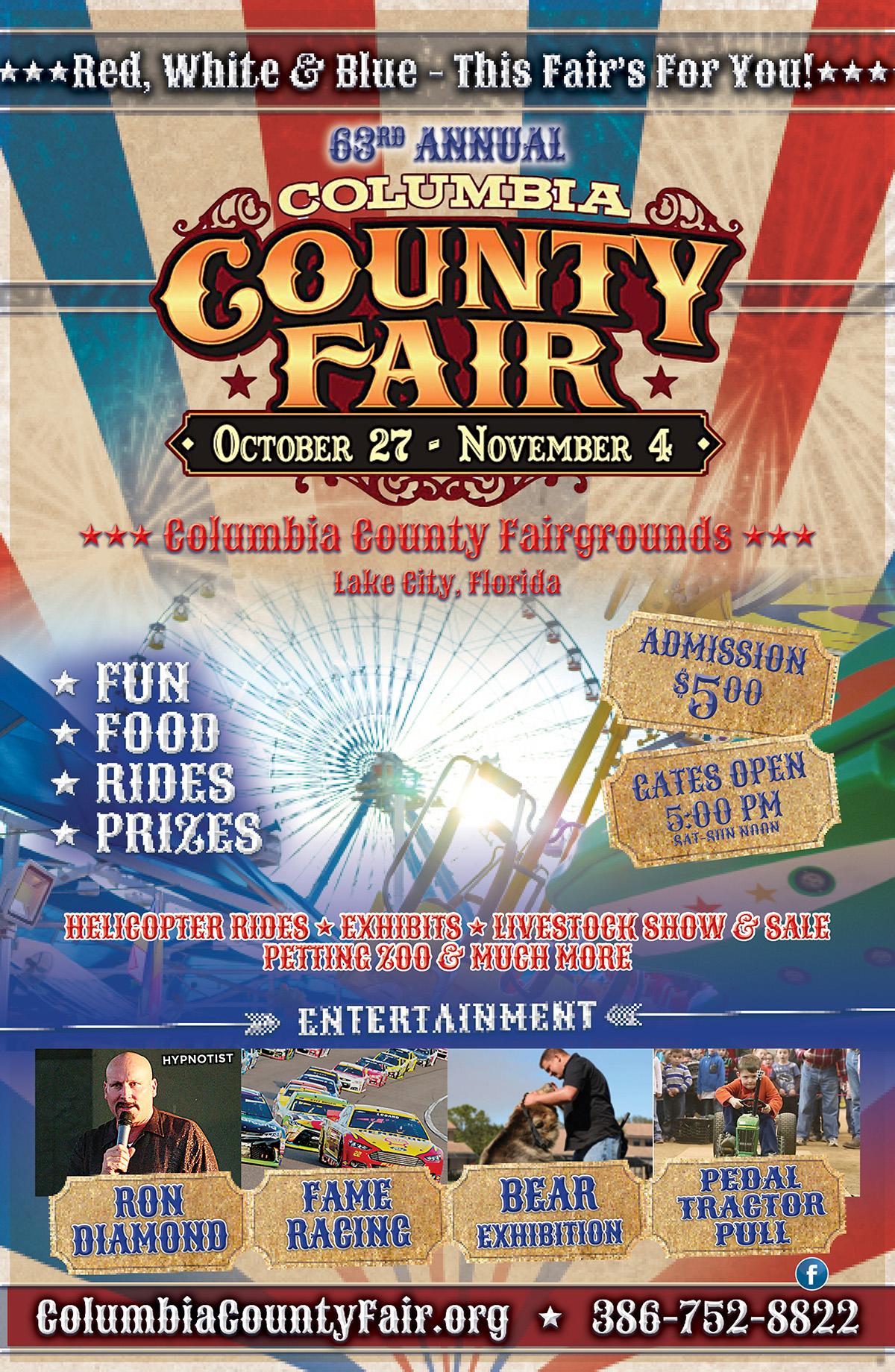 63Rd Annual Columbia County Fair — Florida Food & Farm With South Florida Fair Ground Calendar