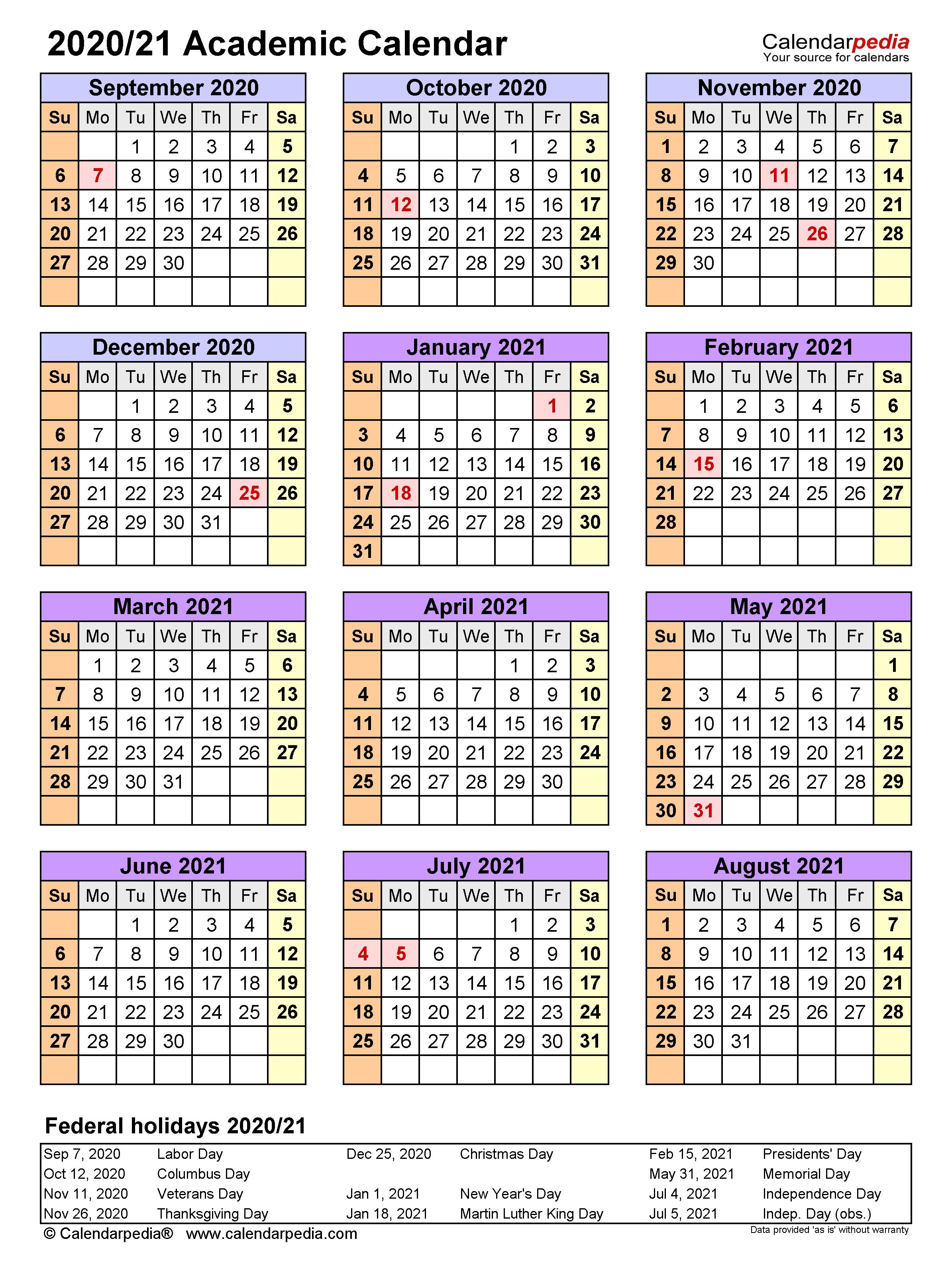 Academic Calendars 2020/2021 - Free Printable Excel Templates Regarding Uri Academic Calendar 2021 2020