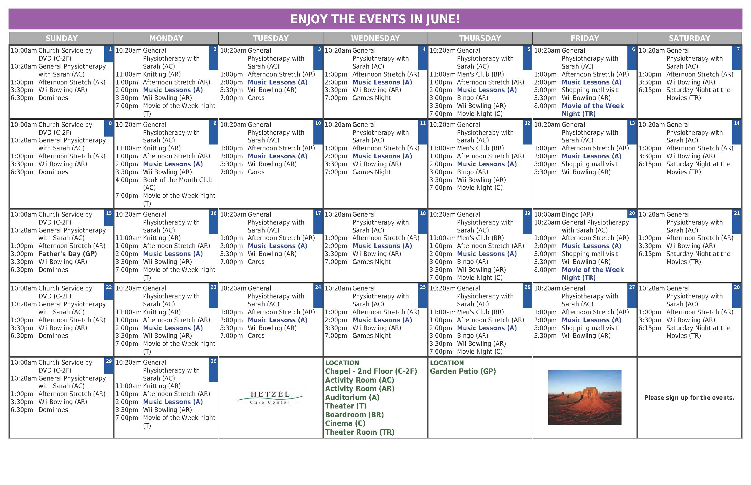 Activity Calendar Management In Senior Living Communities Inside Assisted Living Calendar Template