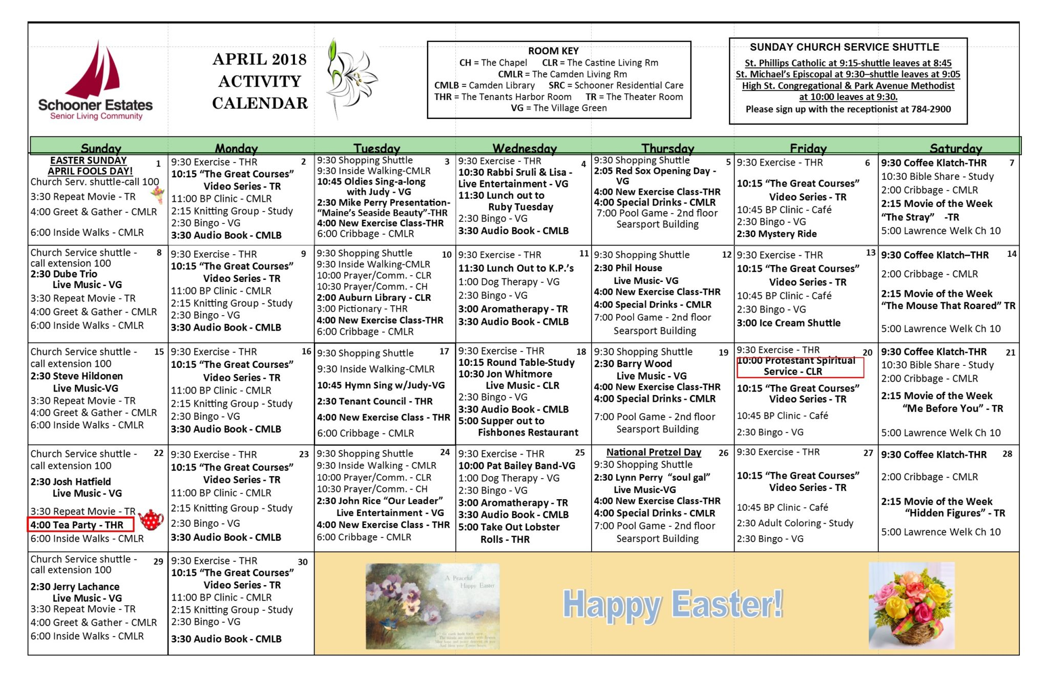 Activity Calendars Pertaining To Activity Calendar Assisted Living