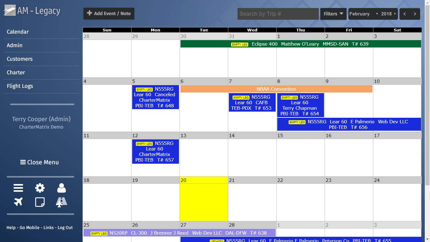 Airplanemanager | Charter Aircraft Flight Scheduling Software For Does Frontier Have Monthly Fare Calendar