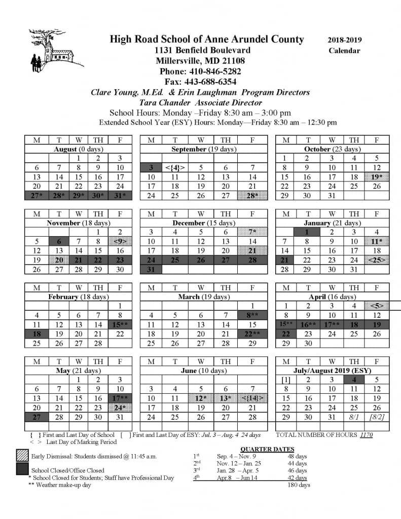 Anne Arundel 2020 School Calendar - Calendar Online 2019 For Weber County Elementary School Calendar