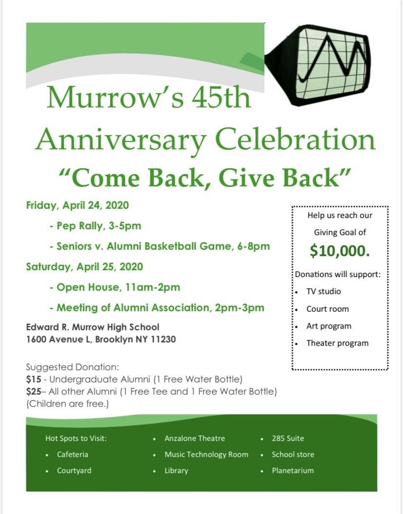 Anniversary Celebration – Edward R. Murrow High School For Edward R Murrow Calendar