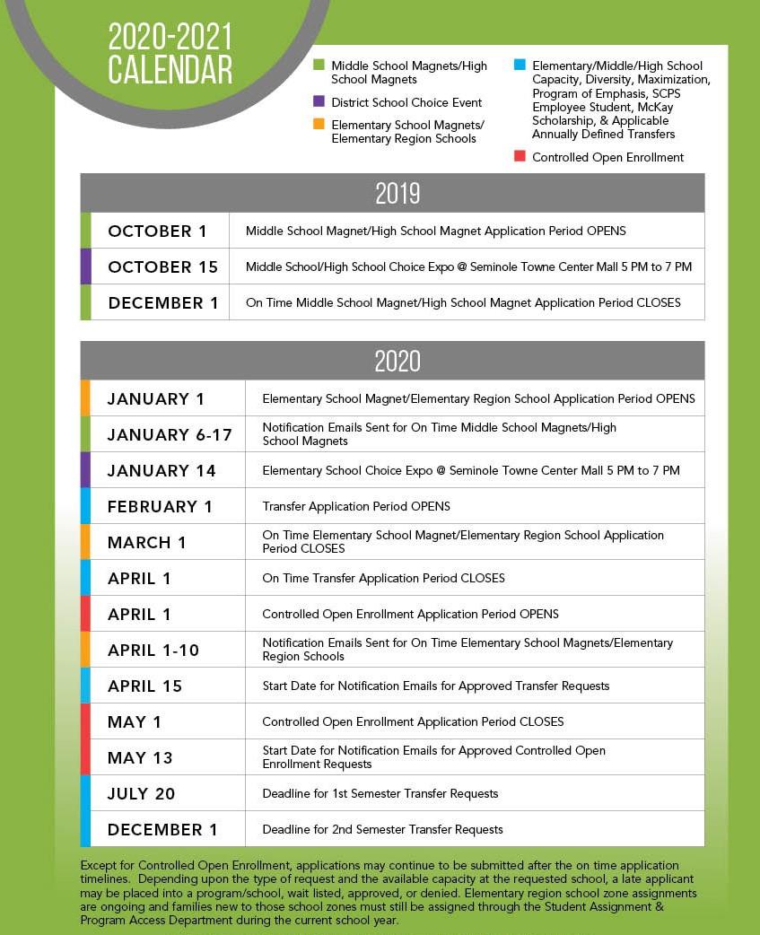 Application Timelines   Seminole County Public Schools In William And Mary School Calendar 2021 2020