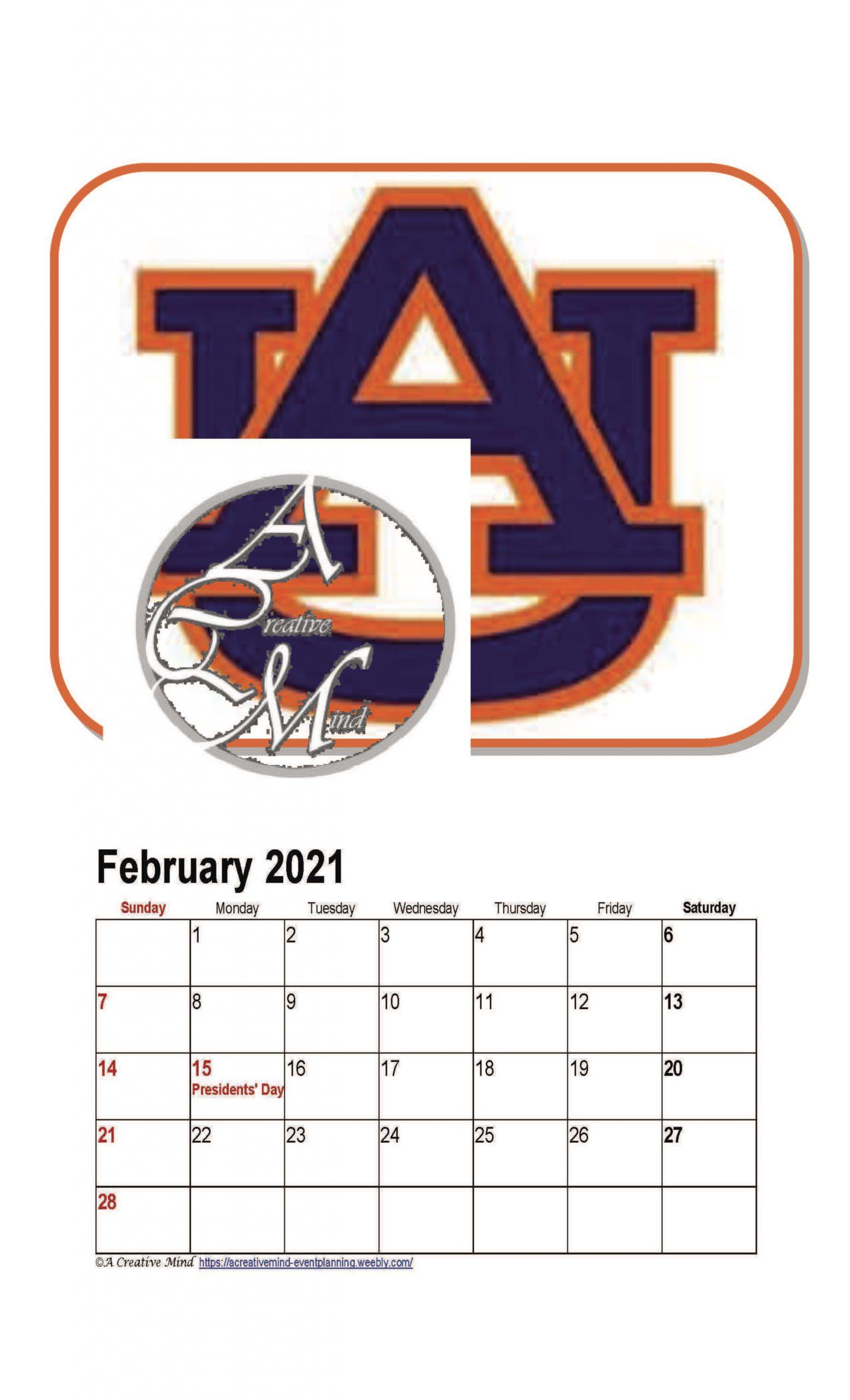 Auburn University 2021 Wall Calendar Pertaining To University Of Phoenix 2021 Calendar