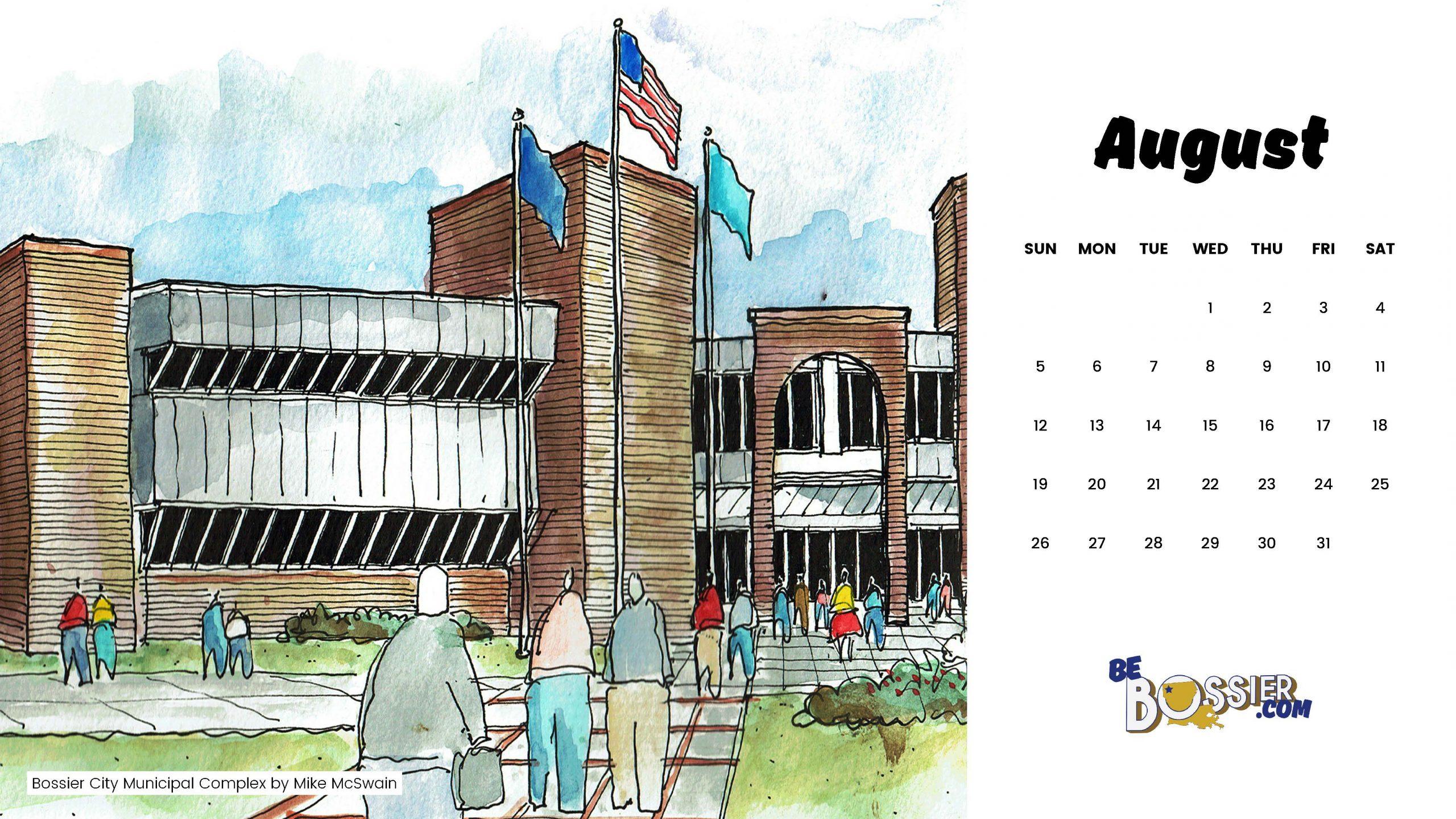 August Arrives With A Bossier Calendar | Be Bossier Intended For Bossier Parish School Board Calendar
