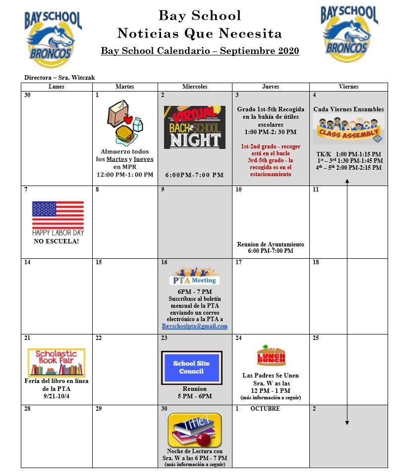 Bay Elementary School With Regard To Bay County School Calendar 2020 2021