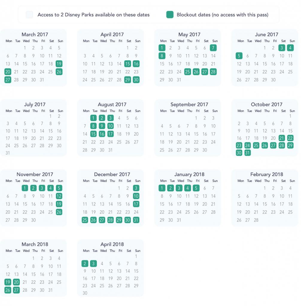 Black Out Days At Disneyland – Calendar Template 2020 Intended For Disneyland Paris 2020 Calendar
