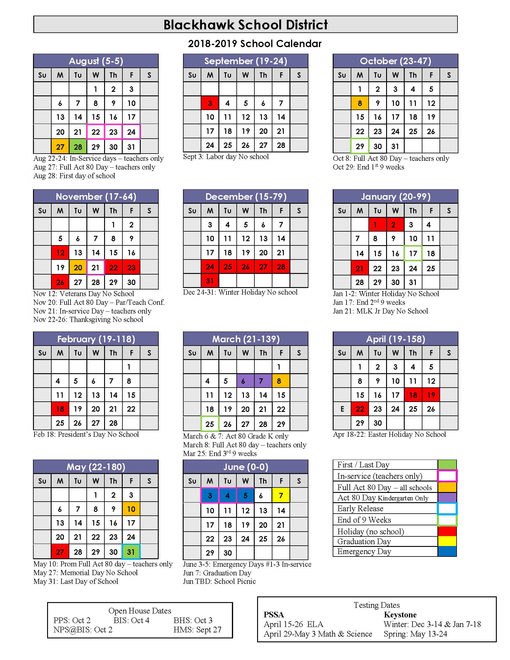 Blackhawk School District With Sioux Falls School District Calendar 2021 20