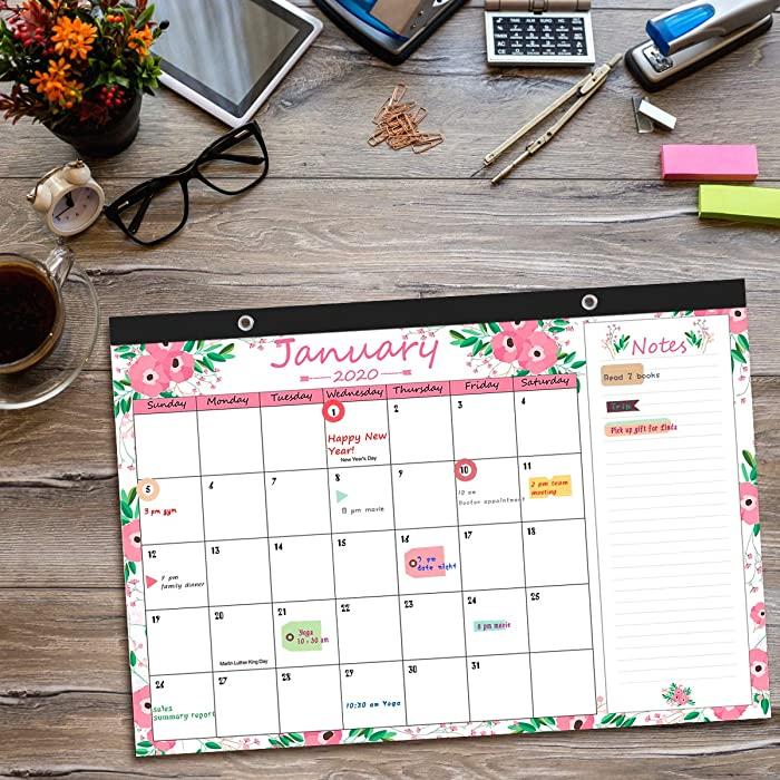 """Blisstime Desk Calendar 2020 17"""" X 12"""" Runs From January With Boyertown School District Calendar 2020 17"""
