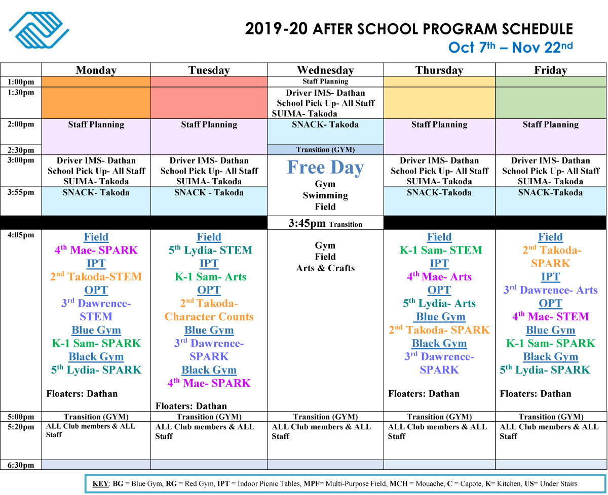 Boys And Girls Club Program Program Calendar | Printable Pertaining To Meadowview Convention Center Schedule