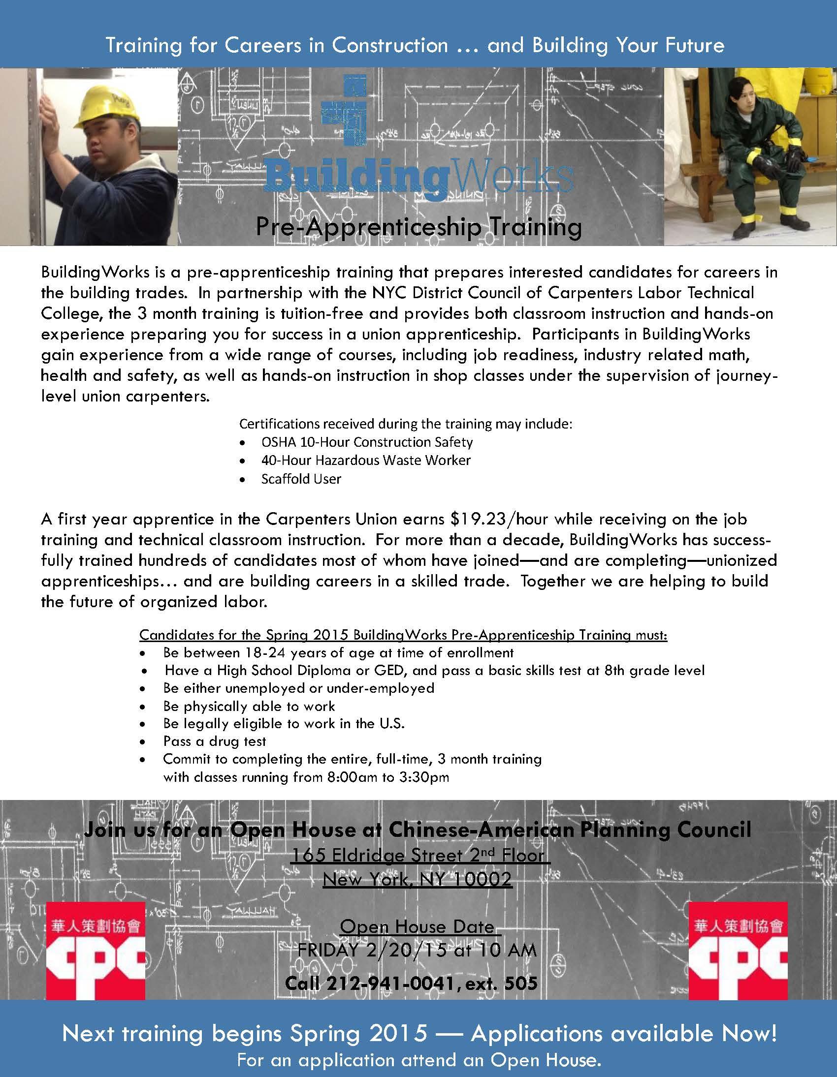Building Works Construction Pre Apprenticeship Training Regarding Nyc School Calendar 2015 16