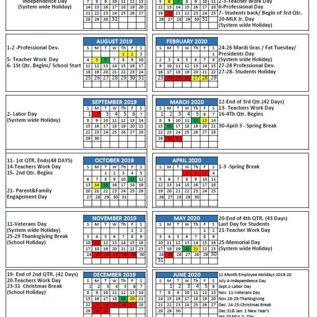 Calendar 2019 2020 Important Dates - Calendar Inspiration Inside Woodbridge Township School District Student Calender2021 2020 School Year