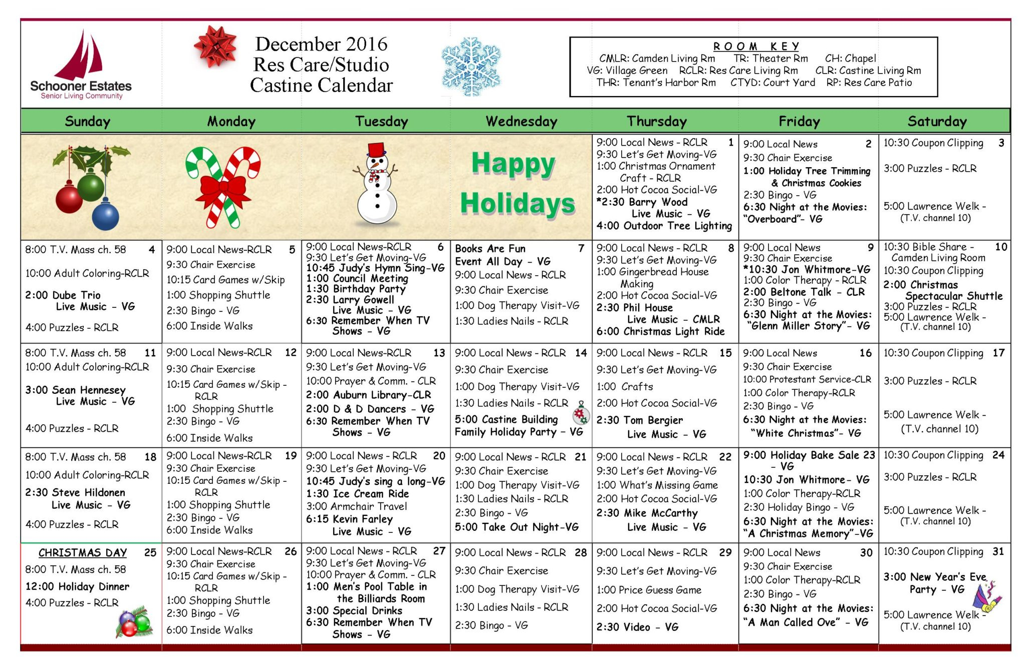 Calendar Of Events With Regard To Assisted Living Activities Calendar Ideas