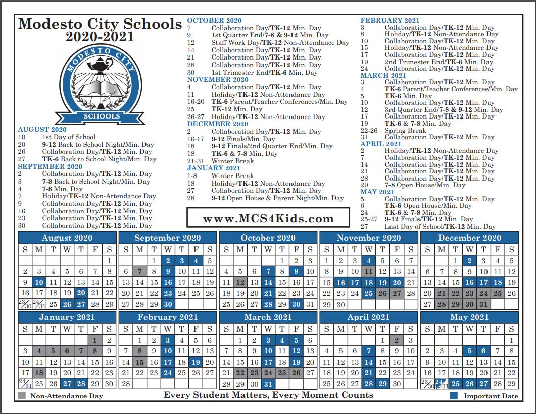 City Of Merced School District Calendar | Printable inside Aiken County School Calendar 2021 2020