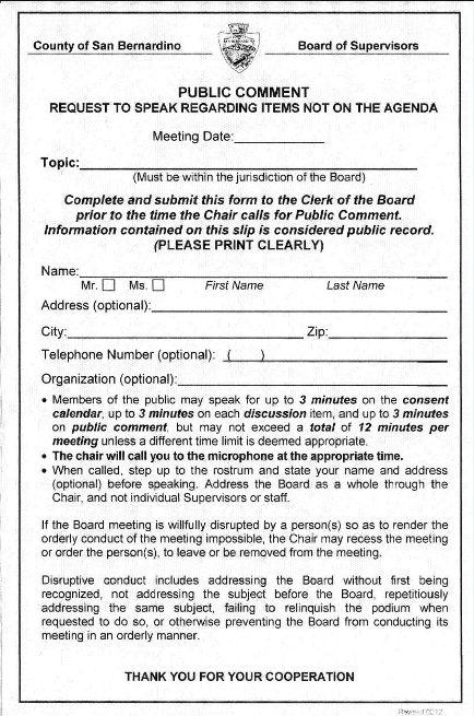 "Coming In Below The Radar : ""Speaker Cards"" | The Banning Pertaining To San Bernardino Superior Court Calendar"