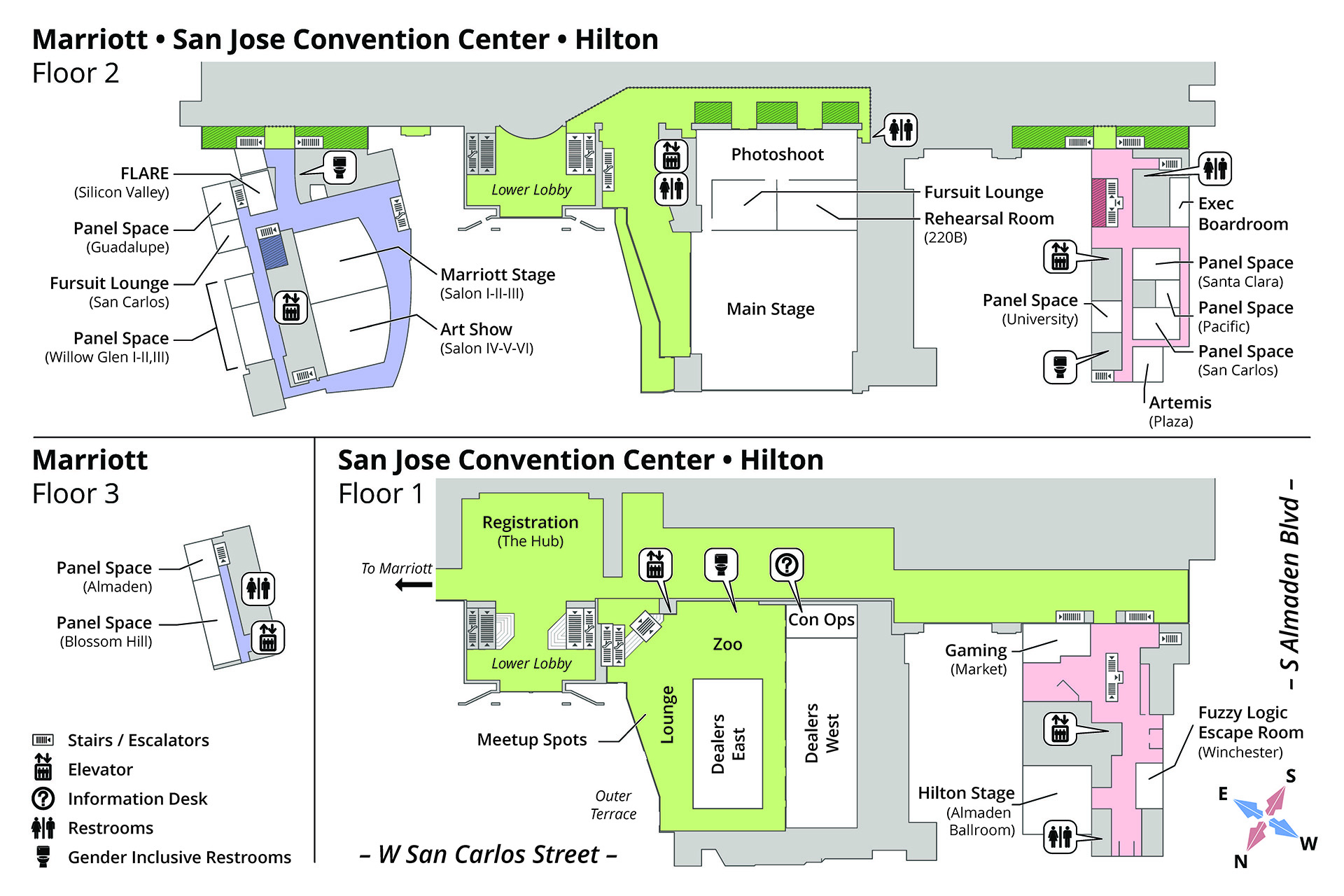 Convention Map – Further Confusion 2020 Within San Jose Convention Center Calendar