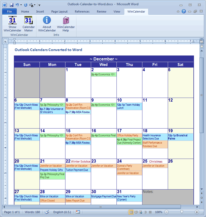 Convert Outlook Calendar To Excel And Word Regarding Convert A Spreadsheet To A Calendar
