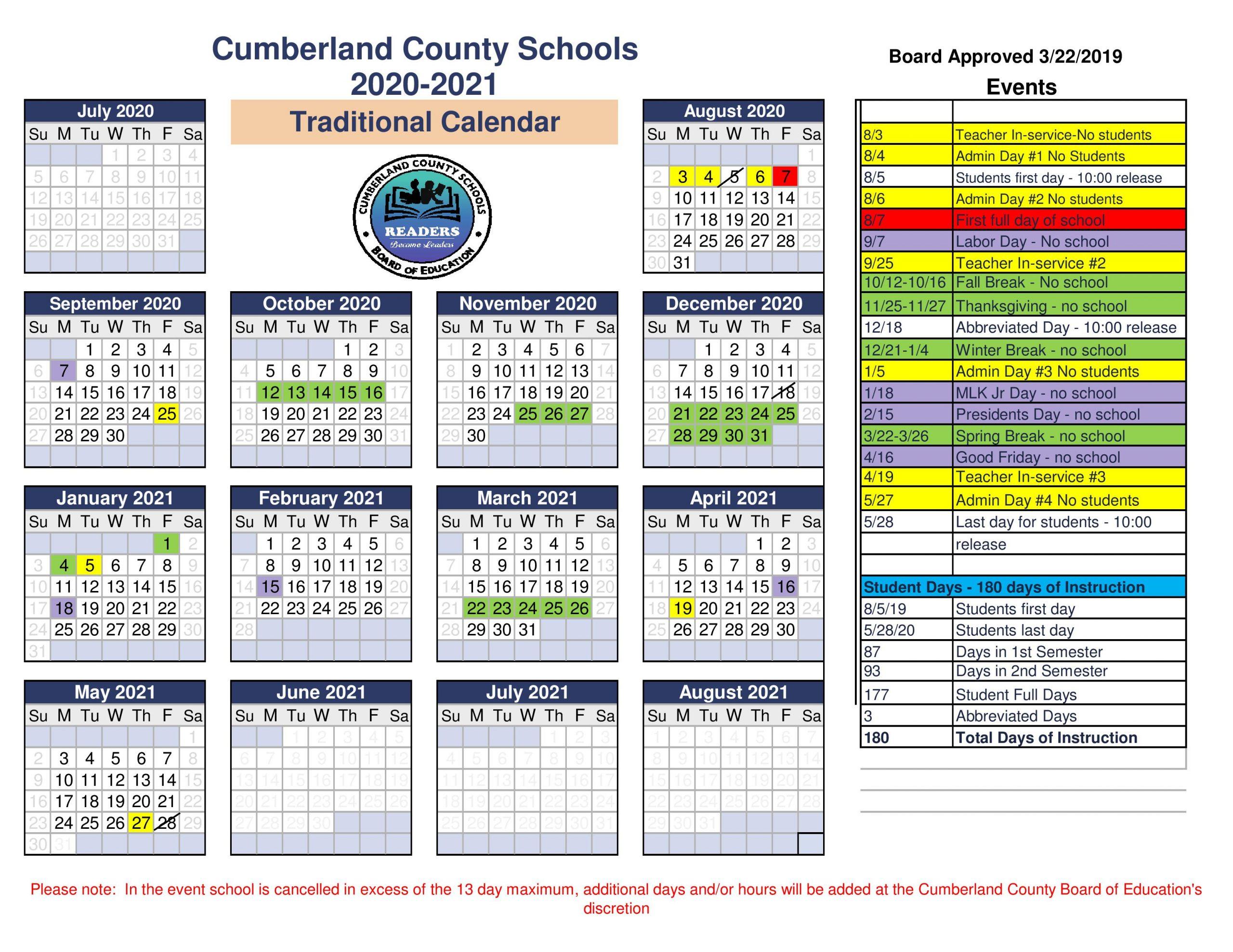 Cumberland County School District Inside Board Of Education Calendar 2021 2020 Bibb County