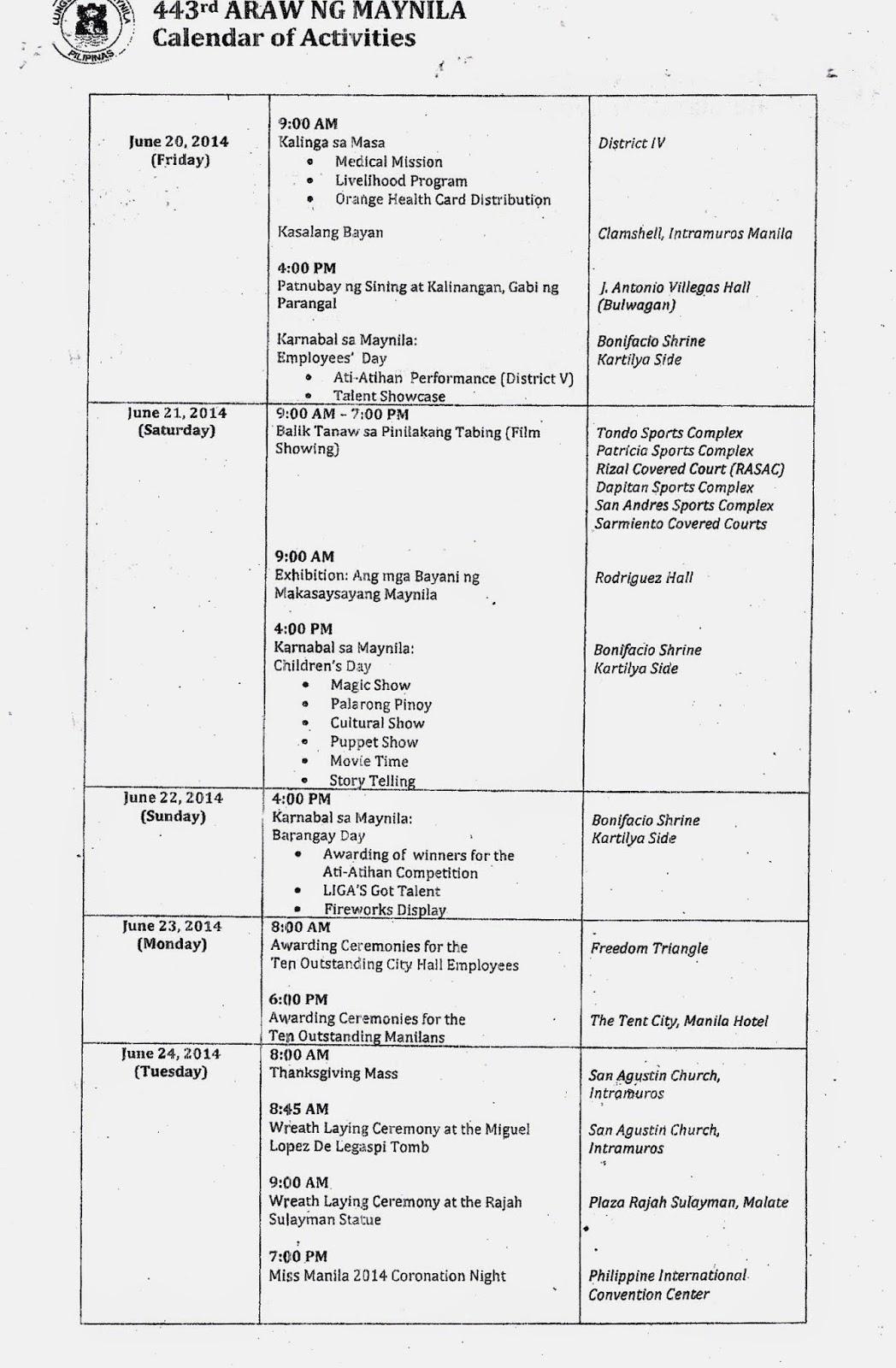 Department Of Education Manila: Division Memorandum No Regarding Doeschool Calendar 2014 2015