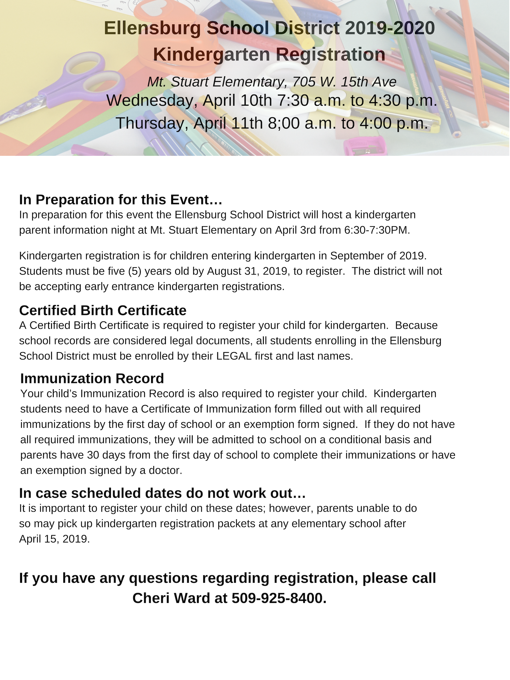 District 6 Kindergarten Registration | Kinder intended for North Clackamas School District Elementary Calen