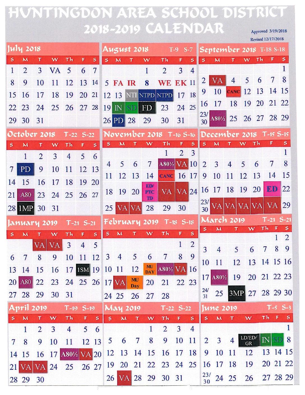 District Calendar – Huntingdon Area School District Throughout Turning Stone 2021 Spring Fling Bingo