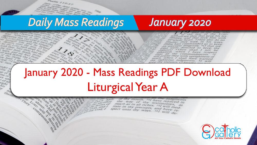 Download Mass Readings - January 2020 - Catholic Gallery Regarding Liturgy Of The Hours 2021 Printable