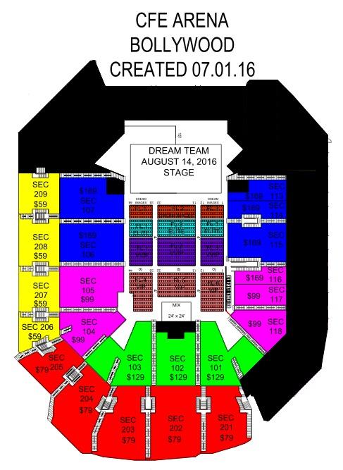 Dream Team Live In Concert Fl In Cfe Arena University Of Inside University Of Central Florida School Calendar