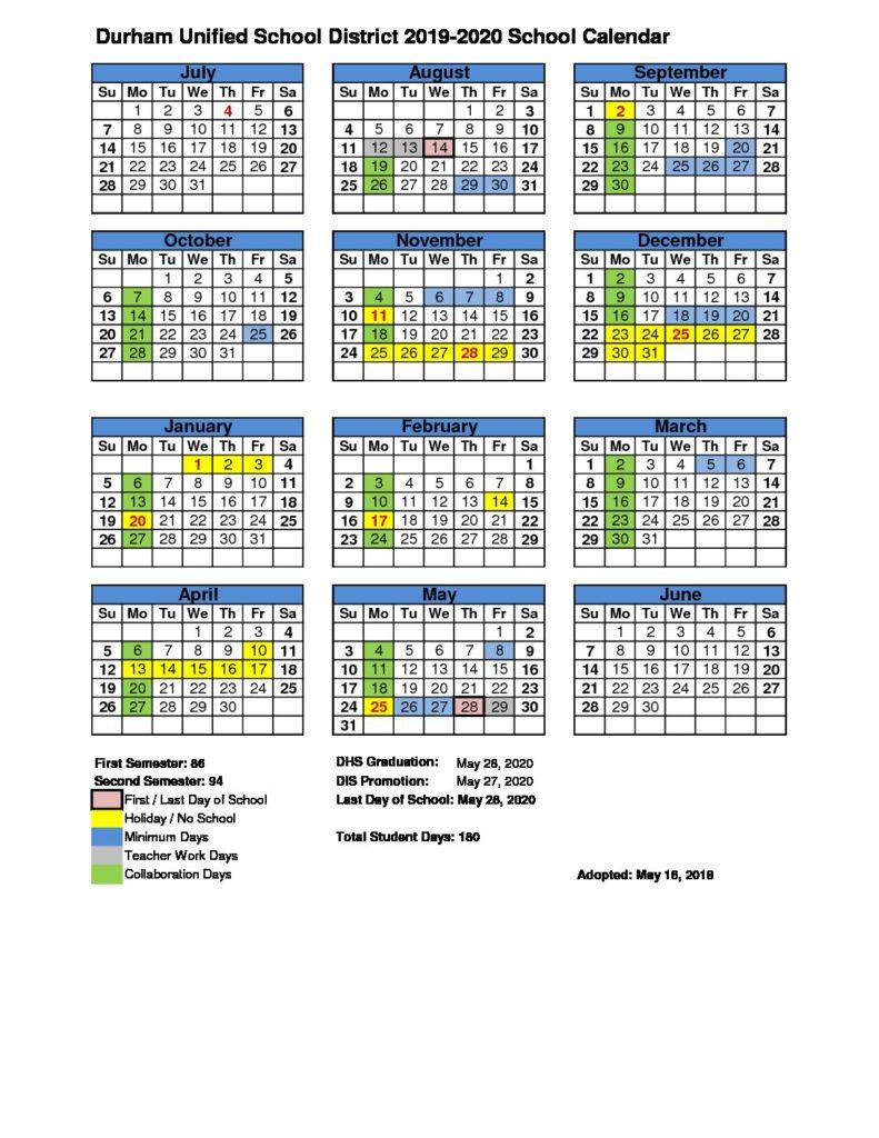 Durham Public Schools 2021 Calendar | Printable Calendar Pertaining To Aiken County School Calendar 2021 2020