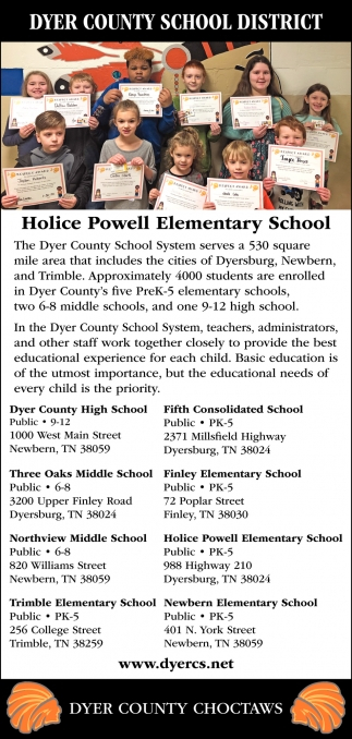Dyer County Choctaws, Dyer County School District Within Rutherford County Schools Printable Calendar