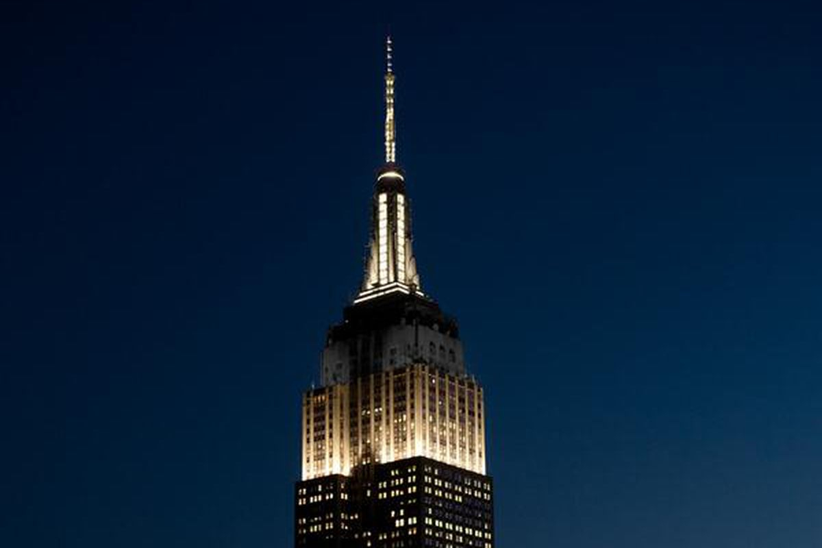 Empire State Building Lights Up Black & White In Honor Of Throughout Empire State Building Lights Schedule