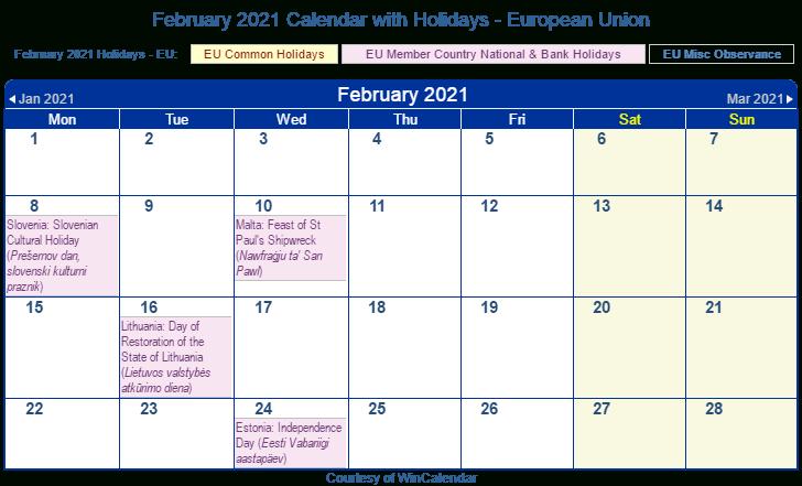 European Public Holidays 2021 Calendar | Printable March Regarding Boise State University Calendar 2021