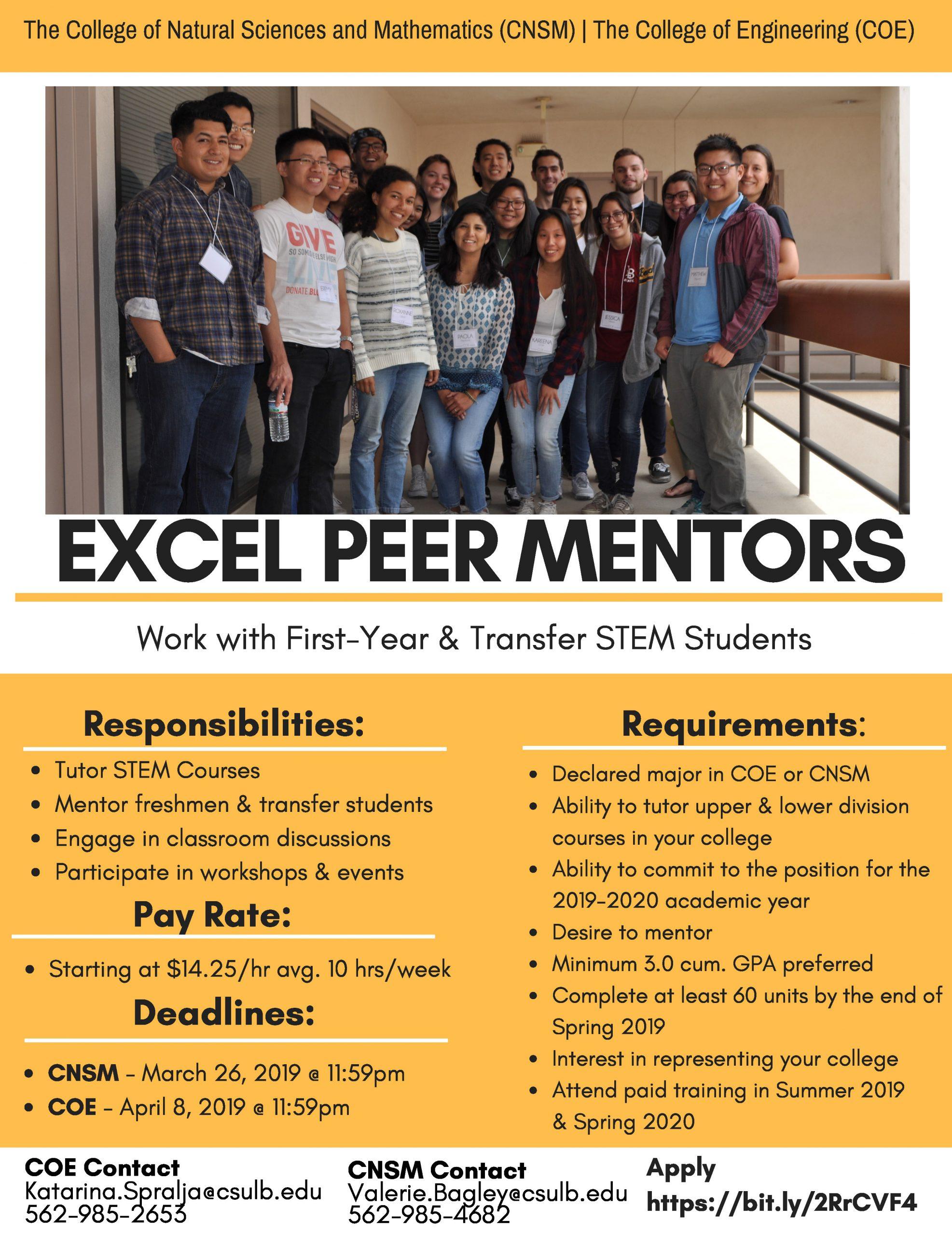 Excel Peer Mentors | Hsi Stem In Summer School Calendar For Long Beach Cal State 2020