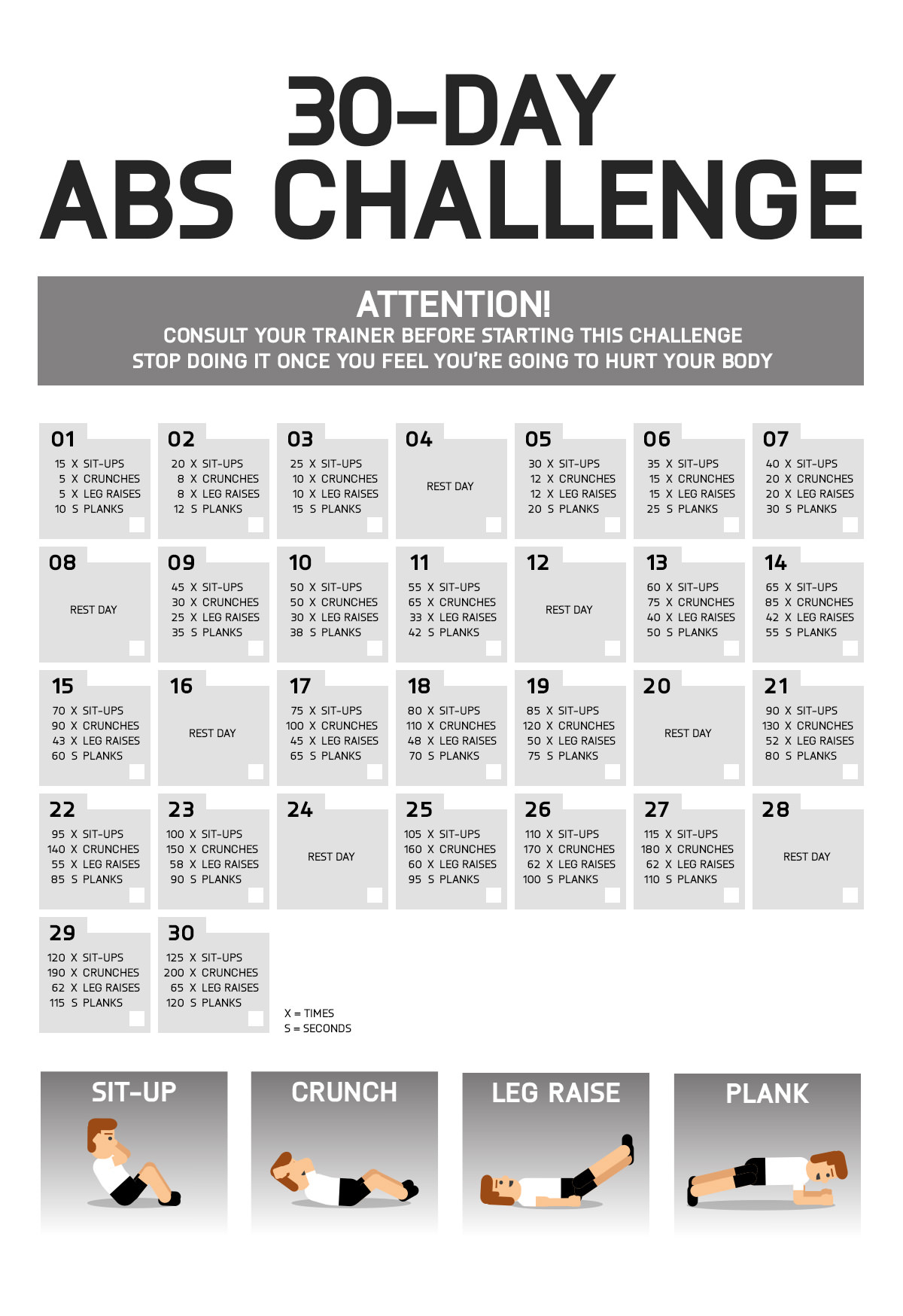 Exercise Physical Education Fitness Regarding 30 Day Sit Up Challenge