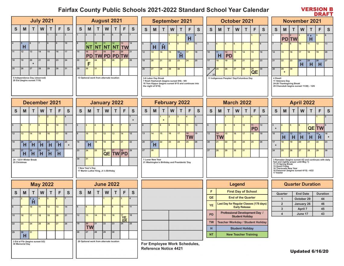 Fairfax County School Board To Add Jewish, Hindu, Muslim Pertaining To Shelby County Al Public School Calendar 2021 2021