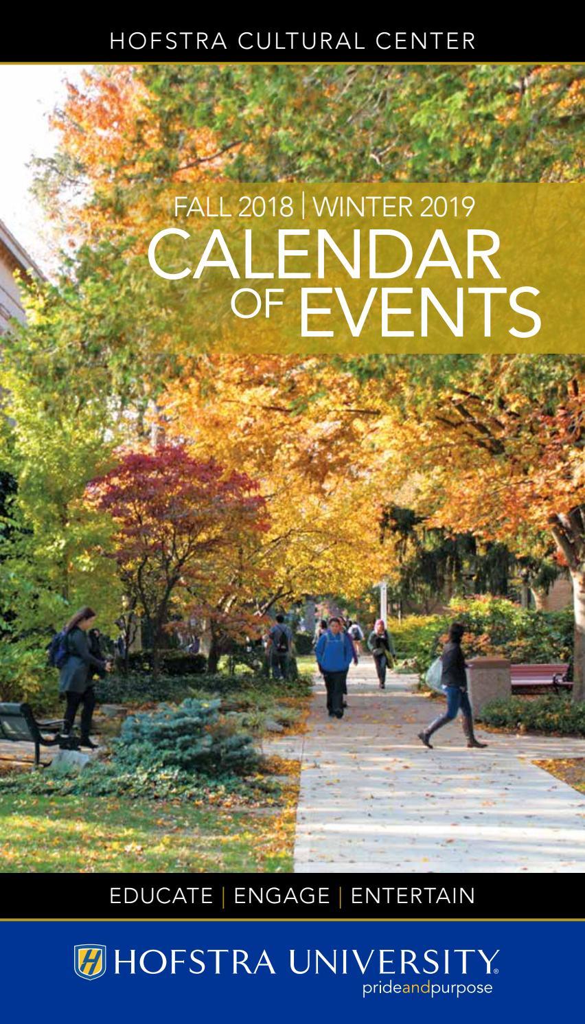 Fall 2018 | Winter 2019 Calendar Of Events - Hofstra Throughout University Of Alabama Fall Academic 1991 Calendar