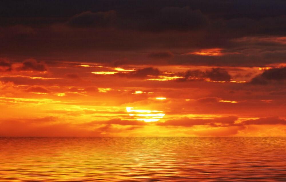 Framed Print – Orange Ocean Sunset (Picture Sunrise Beach Pertaining To Sunrise And Sunset Times Printable