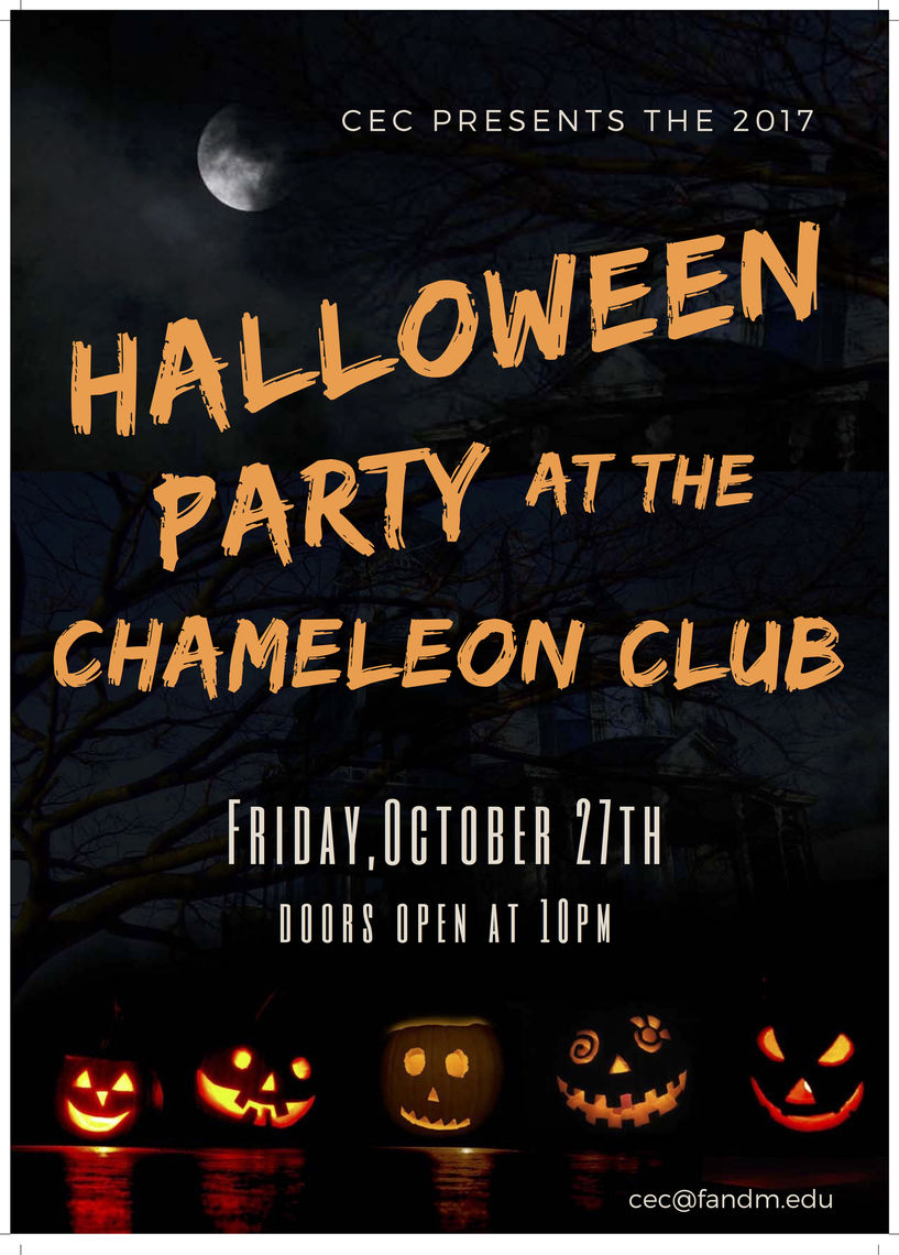Franklin & Marshall – All Campus Halloween Party – Cec For Franklin And Marshall Academic Calendar