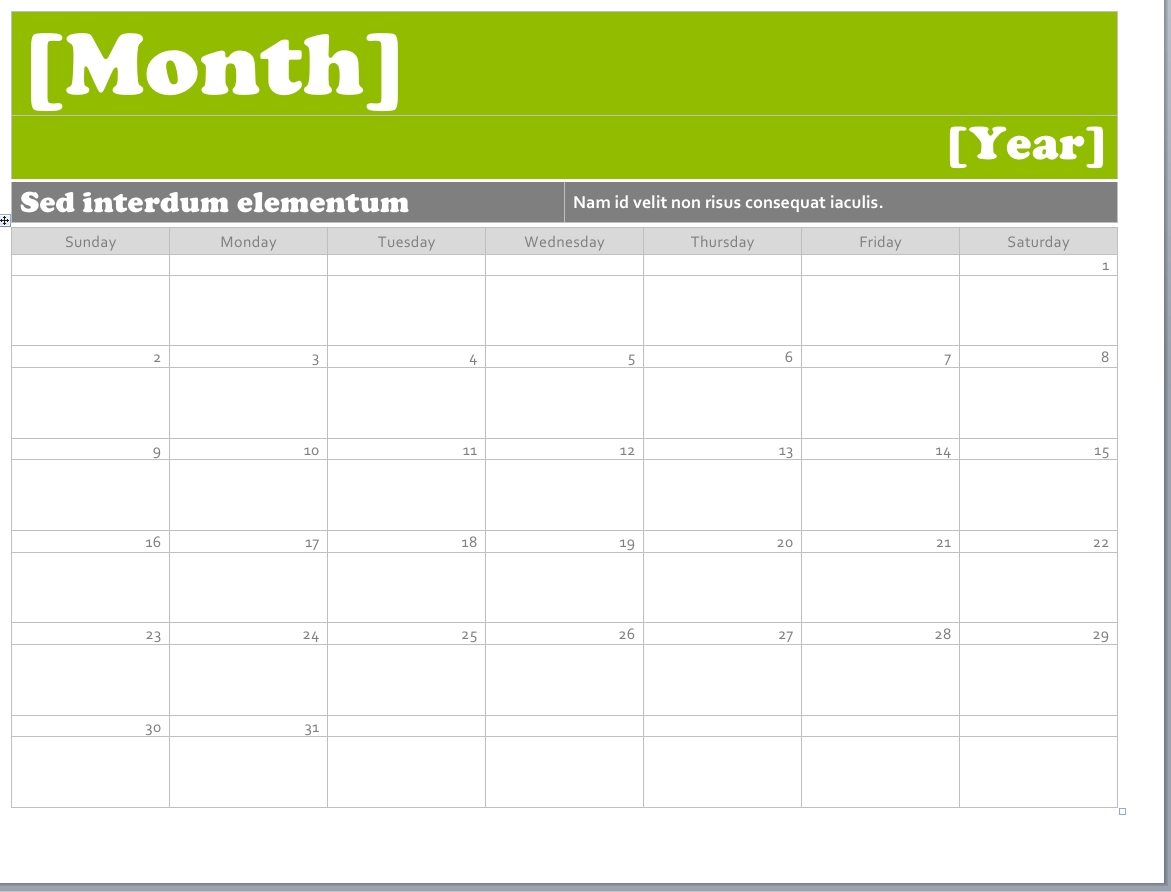 Free Ms Word Calendar | Qualads Intended For Example Year Round School Schedule