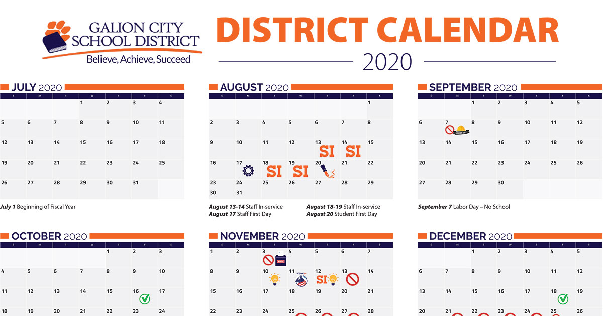 Galion Board Of Education Approves 2020 2021 School Pertaining To Smithtown School Calendar 2021 20