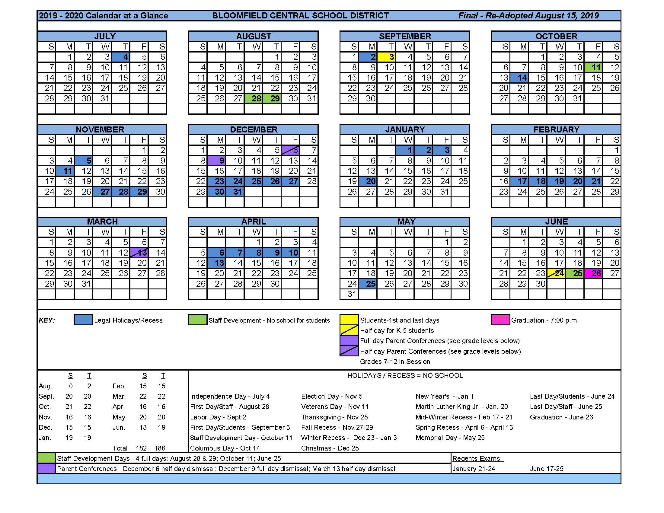 Garnet Valley School District 2021 20 Instructional Throughout University Of Central Florida School Calendar